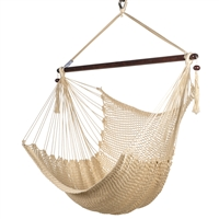 Caribbean Hammock Chair with Footrest - 40 inch - Soft-spun Polyester - (Cream)