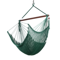 Caribbean Hammock Chair with Footrest - 40 inch - Soft-spun Polyester - (Green)