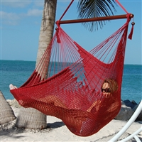 Large Caribbean Hammock Chair with Spring Swivel Kit