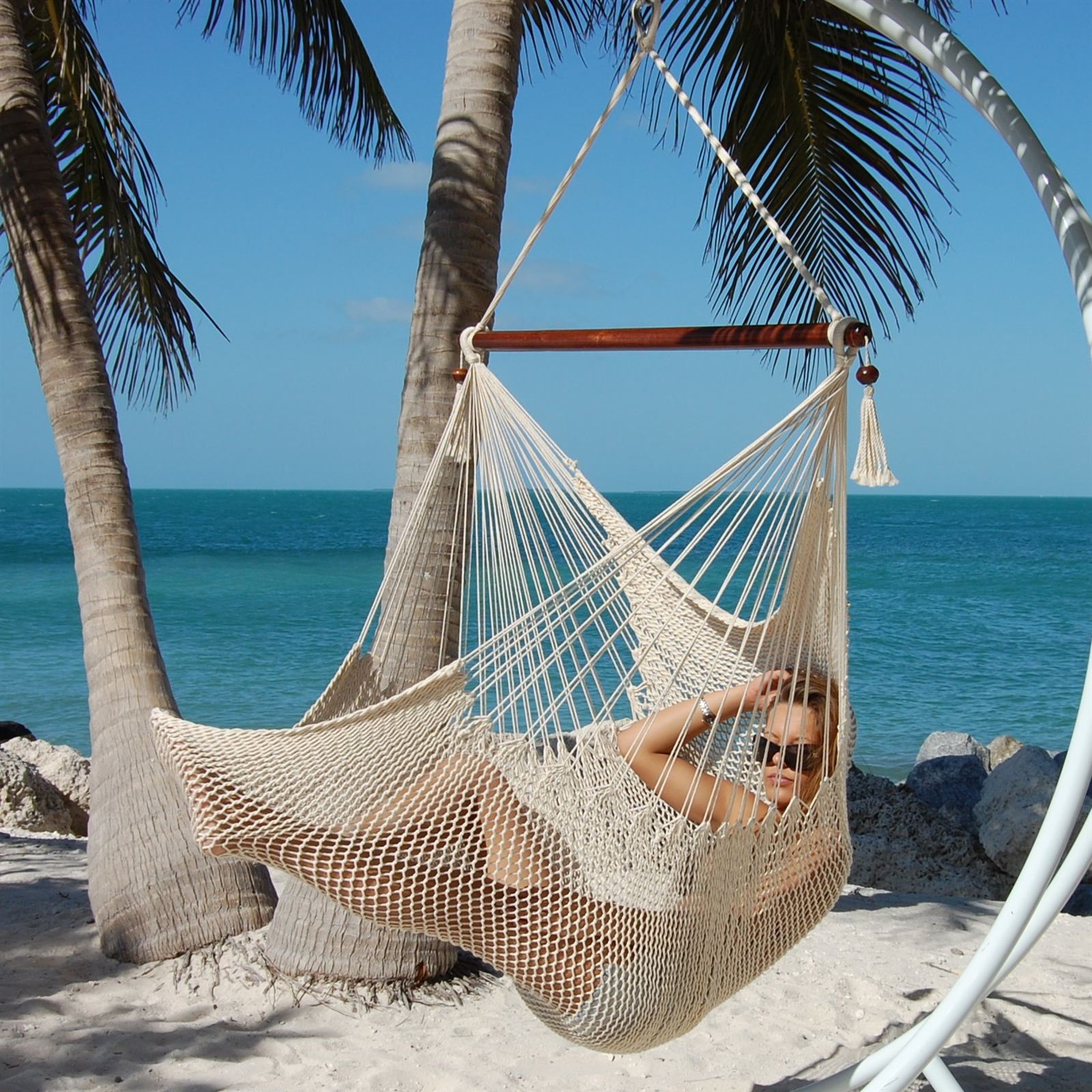 Large Caribbean Hammock Chair And Hammock Chair Suspension
